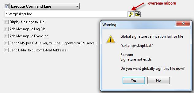 Entering a script and its verification