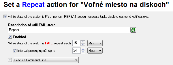 Setup of Repeat actions