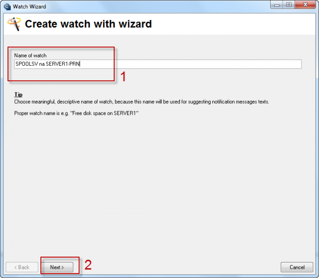 Image: Add watch with wizard
