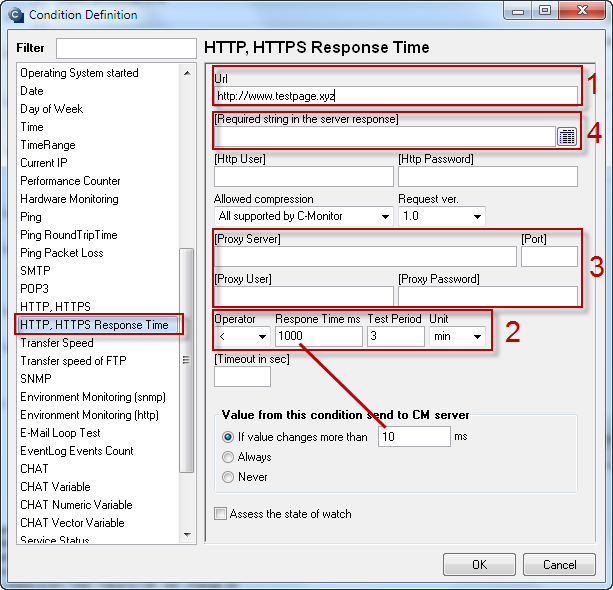 Image: HTTP, HTTPS response time