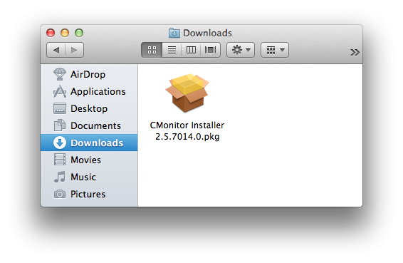 Downloaded installation package