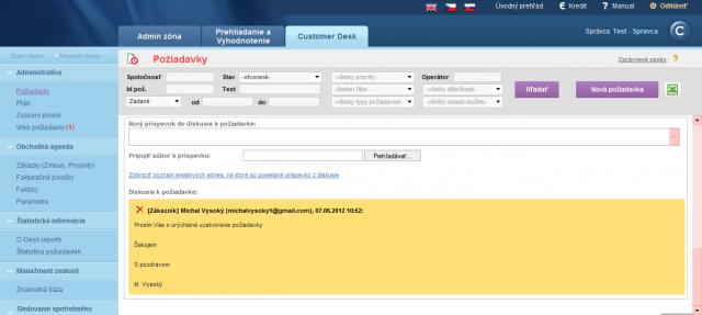 Zobrazenie diskusného príspevku v CM zadaného cez email