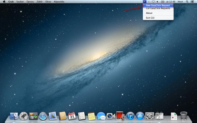 Zadávanie easyclick požiadaviek v MAC OS