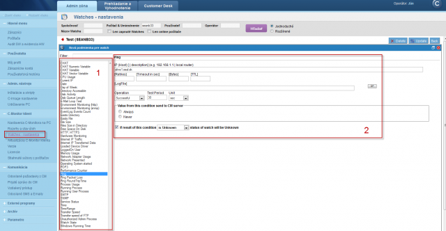 Image: Example of condition setup through CM portal