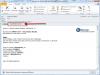 Email s prílohou zobrazujúci priebežný a finálny stav vzdialeného testu disku