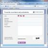 Webformulár